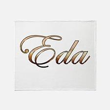 Gold Eda Throw Blanket