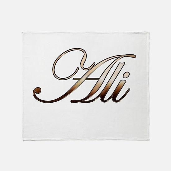 Gold Ali Throw Blanket