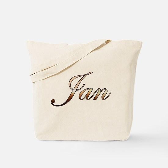 Gold Jan Tote Bag
