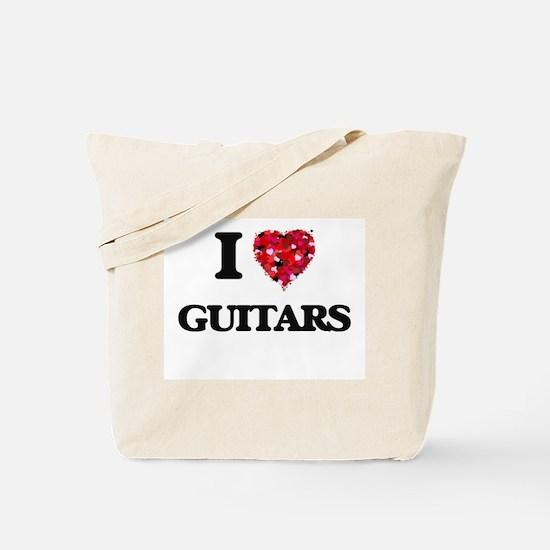 I love Guitars Tote Bag