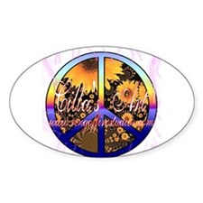 Cilla's Art label Oval Decal