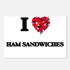 I love Ham Sandwiches Postcards (Package of 8)