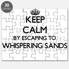 Keep calm by escaping to Whispering Sands C Puzzle