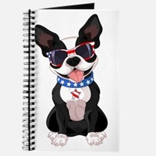 Patriotic Boston Terrier Journal