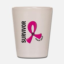 Survivor Since 2012 12.2 Breast Cancer Shot Glass