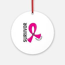 Survivor Since 2012 12.2 Breast C Ornament (Round)