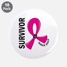 """Survivor Since 2012 12.2 Bre 3.5"""" Button (10 pack)"""