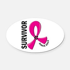 Survivor Since 2012 12.2 Breast Ca Oval Car Magnet