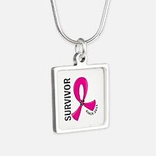 Survivor Since 2011 12.2 B Silver Square Necklace