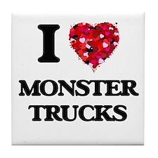 I love Monster Trucks Tile Coaster