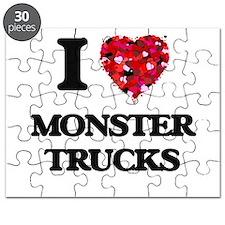 I love Monster Trucks Puzzle