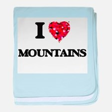 I love Mountains baby blanket