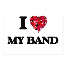 I love My Band Postcards (Package of 8)