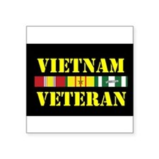 "Cute Vietnam campaign ribbon Square Sticker 3"" x 3"""