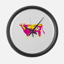 Cute Cow and calf Large Wall Clock