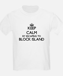 Keep calm by escaping to Block Island Rhod T-Shirt