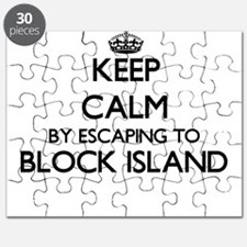 Keep calm by escaping to Block Island Rhode Puzzle