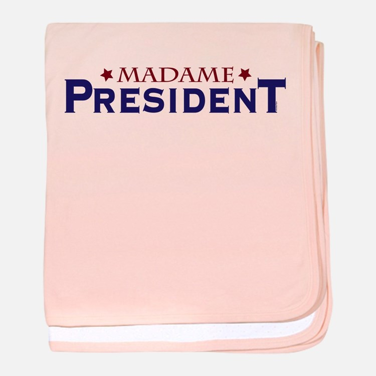 Madame President baby blanket