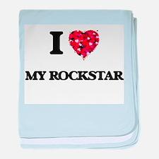 I love My Rockstar baby blanket