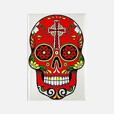 Unique Mexican sugar skulls Rectangle Magnet