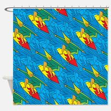 Surfer Tessellation Shower Curtain