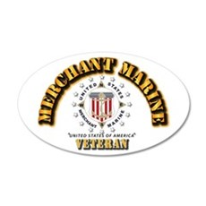 Merchant Marine Veteran w Se Wall Decal