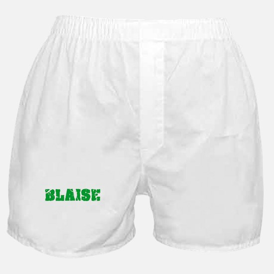 Blaise Name Weathered Green Design Boxer Shorts