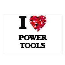 I love Power Tools Postcards (Package of 8)