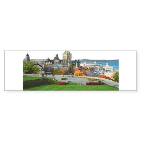 Old Quebec Panoramic View Bumper Sticker