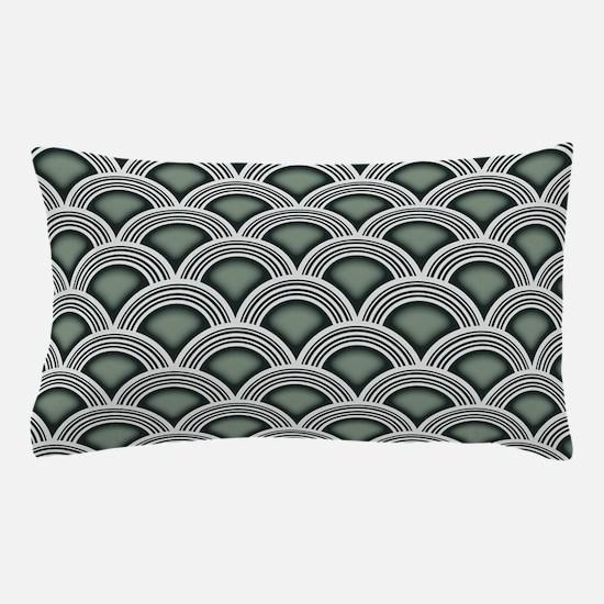 Art Deco Concentric Sage Pillow Case