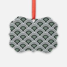 Art Deco Concentric Sage Picture Ornament