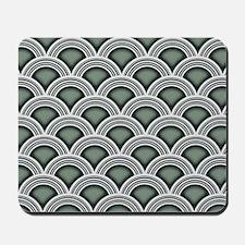 Art Deco Concentric Sage Mousepad