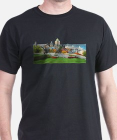 Old Quebec Panoramic View T-Shirt
