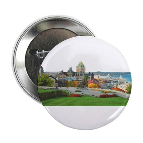 """Old Quebec Panoramic View 2.25"""" Button (100 pack)"""