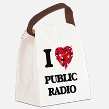 I love Public Radio Canvas Lunch Bag