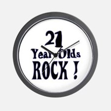 21 Year Olds Rock ! Wall Clock