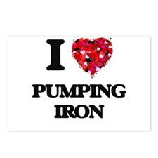 I love Pumping Iron Postcards (Package of 8)