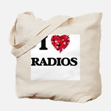 I love Radios Tote Bag