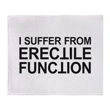 Erectile Function Throw Blanket