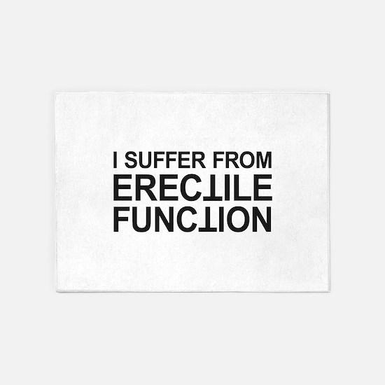 Erectile Function 5'x7'Area Rug