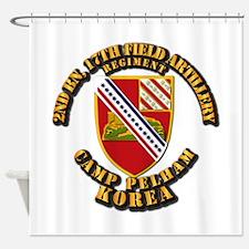2nd Bn 17th Field Artillery Regt - Shower Curtain