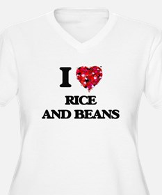 I love Rice And Beans Plus Size T-Shirt