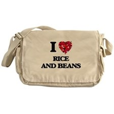 I love Rice And Beans Messenger Bag