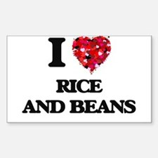 I love Rice And Beans Decal