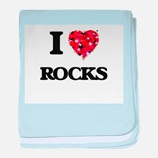 I love Rocks baby blanket