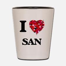 I love San Shot Glass
