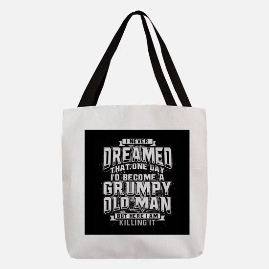 Grumpy old man Polyester Tote Bag