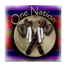 One Nation, Indian Tile Coaster