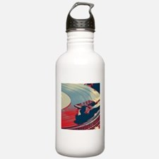 vintage retro record p Water Bottle