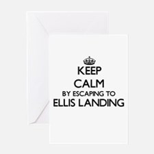 Keep calm by escaping to Ellis Land Greeting Cards